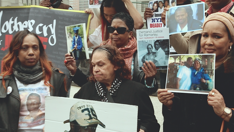 Mothers demand indictments.  Department of Justice NYC  2015